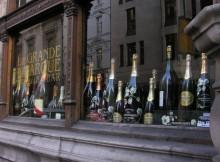 champagne etalage